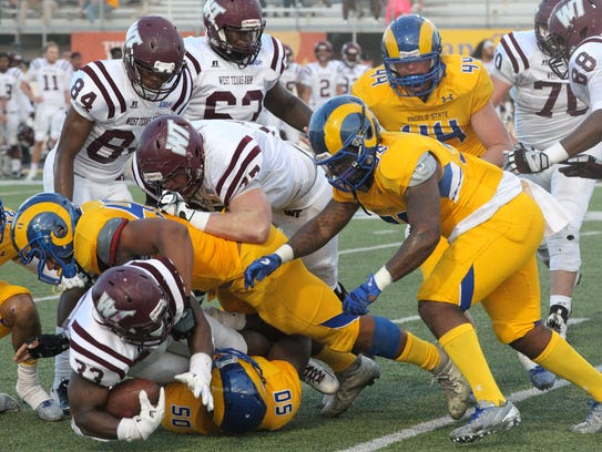 The Angelo State University defense held West Texas