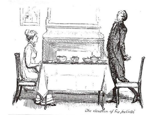 """Jane Austen's """"Pride and Prejudice"""" heroine, Elizabeth"""