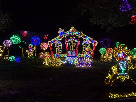 Nearly one million LED lights make up Rock City's Enchanted