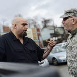 John Fetterman, a Central York graduate, will talk about ways to improve York at Martin Library at noon.