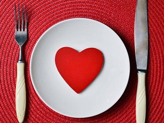 St.Valentine's Day romantic dinner concept.