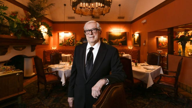 The Lark owner Jim Lark poses for a photo in the dining room of his business in West Bloomfield.