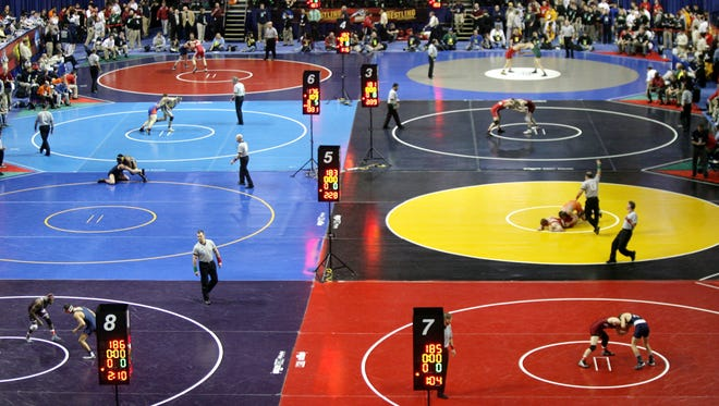 Wrestling at the Palace of Auburn Hills.