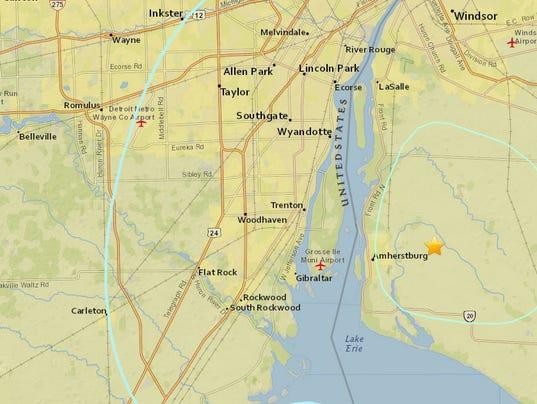 2018 : 3.6 earthquake shakes Ontario, Downriver