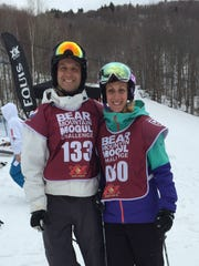 Joe and Amanda Forgione at the Bear Mountain Mogul