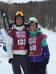 Joe and Amanda Forgione at the Bear Mountain Mogul Challenge which is hosted at Killington, VT