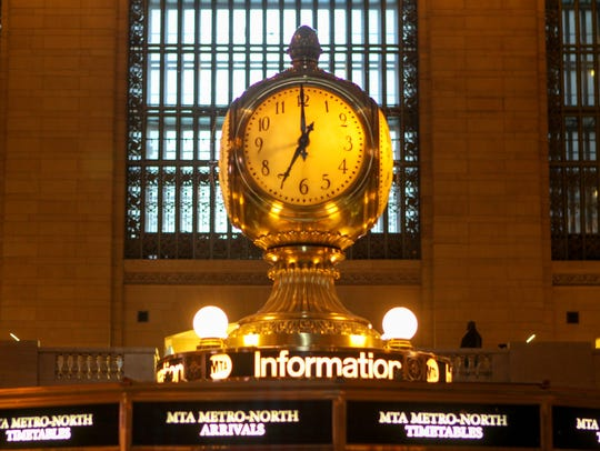 The clock at the center of Grand Central's main concourse