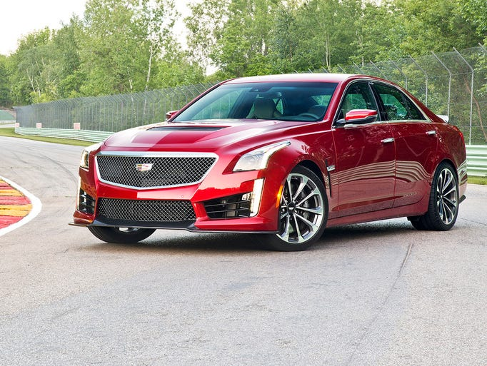 The 2016 CTS-V is a luxury sedan with track capability,