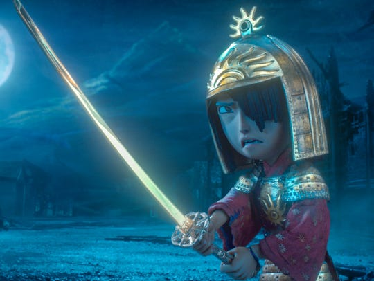 Kubo (voiced by Art Parkinson) prepares for the dreaded