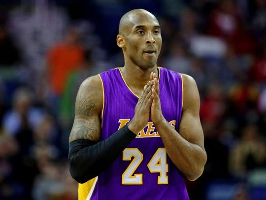 Kobe Bryant has won five championships during his 20 storied years with the Los Angeles Lakers. Bryant announced in November that 2015-16 would be his final season. Bryant, 41, died in a helicopter crash, along with his 13-year-old daughter Gianna and three others, on Sunday in the Los Angeles area.