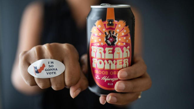 Independence Brewing Co.'s newest specialty beer is called Freak Power, and it's part of the South Austin brewery's efforts to register people to vote and inspire them to vote in October and on Election Day.
