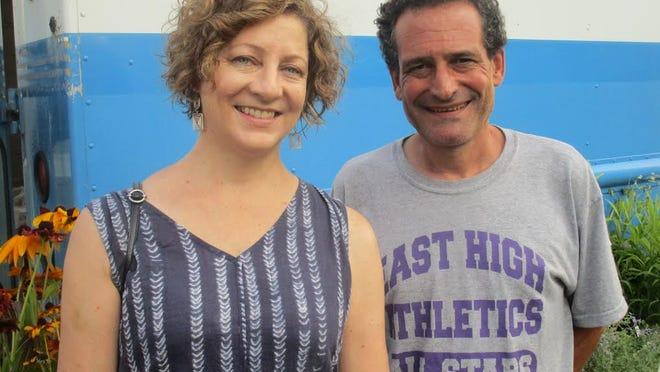 Elizabeth Hallmark and myself at the South Wedge Farmer's Market