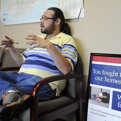 Chris Nelson talks about the future of Veterans Outreach Center on Tuesday in Sioux Falls.