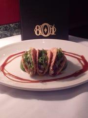 Tuna Tartare Tacos from 801 Chophouse