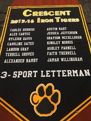 Ashley Parnell, along with 13 other athletes, made up the Iron Tiger Club for the 2015-2016 year. Parnell will again earn an Iron Tiger after this year once she letters in softball.
