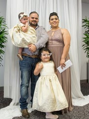 Newly weds Ramon Quiroz and Esmeralda (née Aguilar)