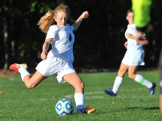 Del Val High School soccer team members like Katherine Schiereck will assist their head coach as he helps younger players improve their game at the Terriers Soccer Skills Clinic, July 31-Aug. 4.