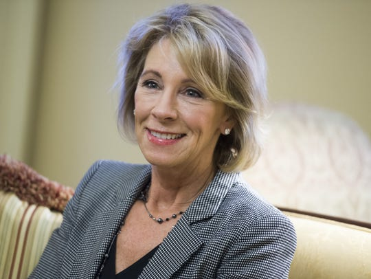 Betsy DeVos, U.S. education secretary.