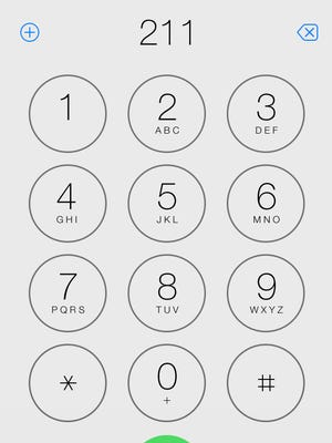 211 dialed on an iPhone.