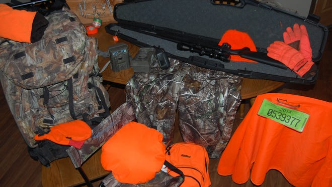 The kitchen table can be a dangerous spot to place your hunting gear when getting ready for an outing.