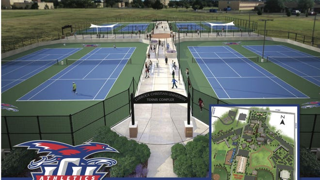 Here are artist's conceptions of a Lubbock Christian University tennis complex that the school plans to build. LCU is reinstating its tennis program with plans to begin competition in the fall of 2022.