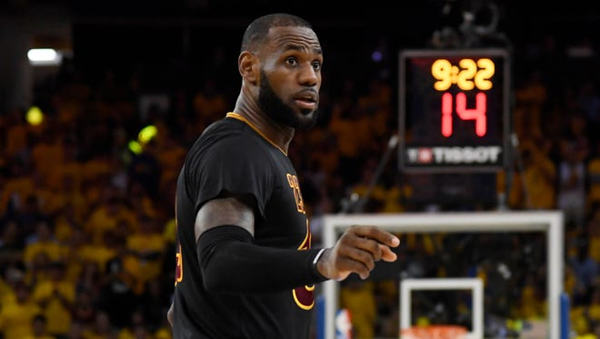 LeBron James during the second half of Game 2 of the 2017 NBA Finals.