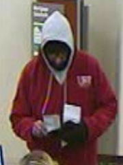 Bank surveillance photo of a robbery suspect at Associated Bank on South Main Street in Fond du Lac.