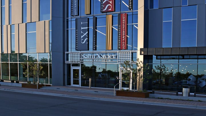 The exterior of Saint Xavier University in downtown Gilbert on opening day, Oct. 13, 2015.