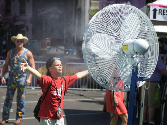 The weather forecast for bonnaroo and cma fest for When is the weather going to cool down 2017