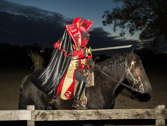 The Headless Horseman rides at Greenfield Village in