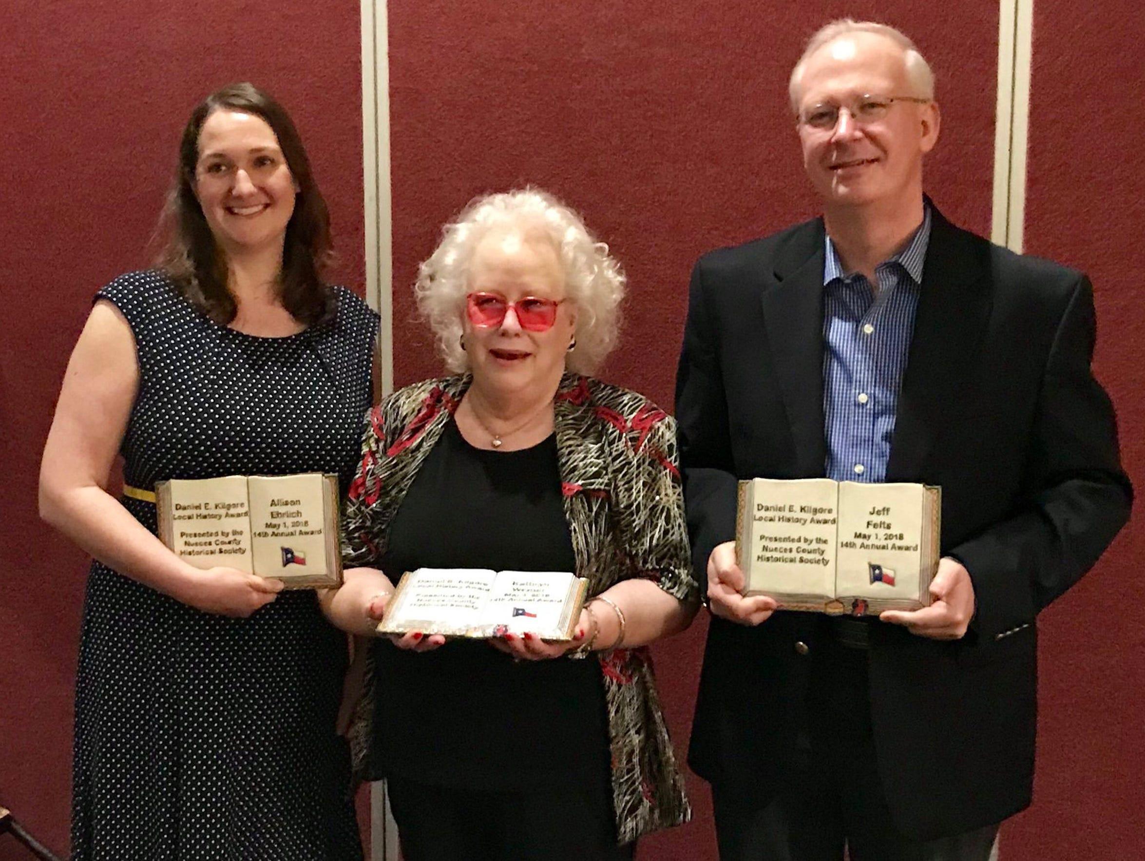 Caller-Times staffer Allison Ehrlich (left to right),