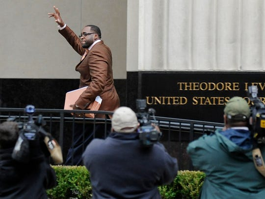 Kwame Kilpatrick in Detroit on Thursday, Oct. 18, 2012.