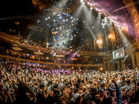 The Resolution Ball at the Fillmore Detroit on Dec. 31, 2015.