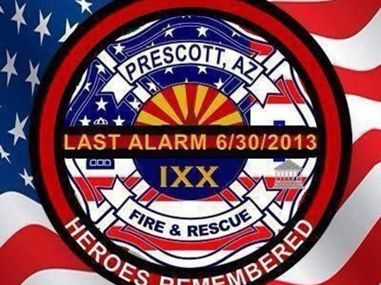 This badge was shared on Facebook by many firefighters Sunday and Monday in memory of those killed in Arizona.