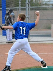 A Virgin Valley Little League player pitches during a 2013 game.