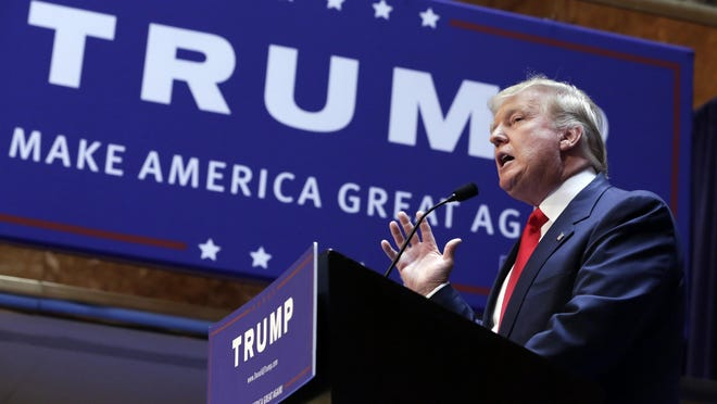 Developer Donald Trump announces he will seek the Republican Party's nomination for president on Tuesday at Trump Tower in New York.
