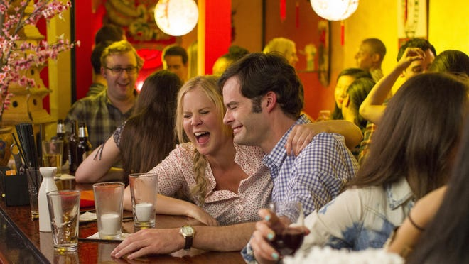 """Amy Schumer and Bill Hader in the comedy """"Trainwreck."""""""