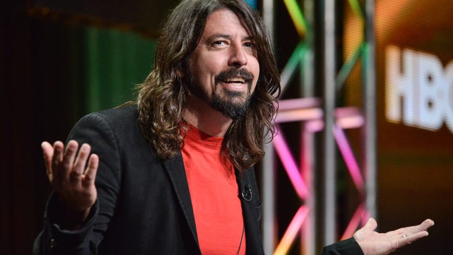 "Dave Grohl speaks onstage during the ""Foo Fighters: Sonic Highways"" segment of the BBC America 2014 Summer TCA on Thursday, July 10, 2014, in Beverly Hills, Calif. (Photo by Richard Shotwell/Invision/AP) ORG XMIT: CAPS108"