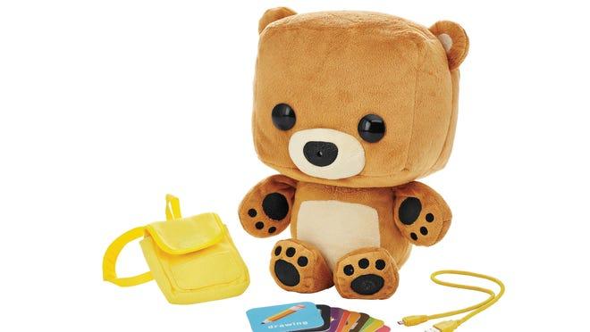 Mattel's Fisher Price Smart Toy Bear is an interactive stuffed animal for children ages 3 to 8 that connects to the Internet via Wi-Fi.