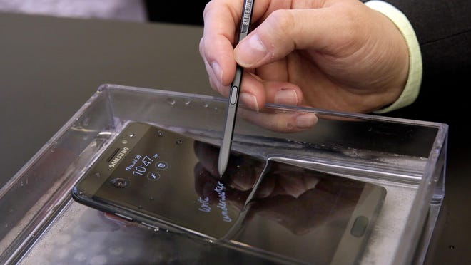 The water-resistant Galaxy Note 7 smartphone will be available Aug. 19.