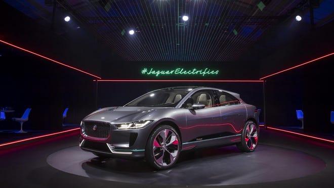 The all-electric 2017 Jaguar F-PACE concept.