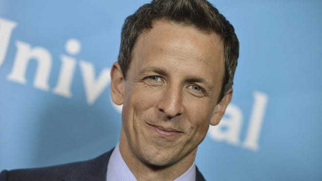 """Seth Meyers, Myers, who has been among the most vocal critics of President Donald Trump, tweeted that he'd """"love"""" to have Trump on his NBC show, in response to one of his messages."""