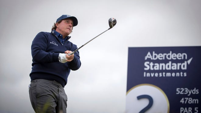 Phil Mickelson is playing the Scottish Open this weekend.