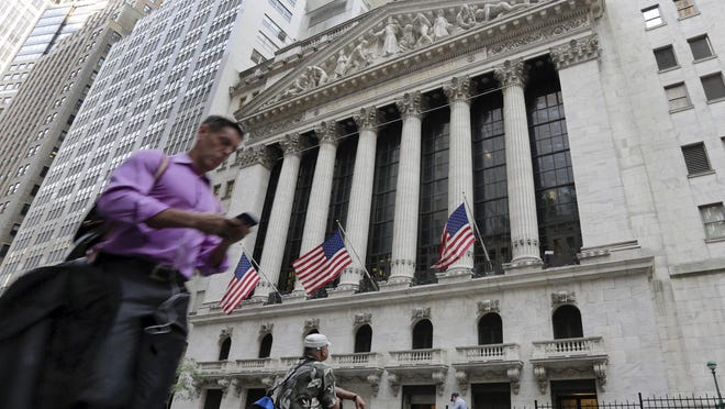 World stocks are climbing Friday after two days of sharp losses. Major U.S. stock indexes are up more than 1 percent, but they're still on track for their biggest one-week loss since late March.