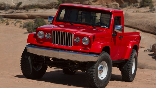 The Jeep J-12 concept was produced for the annual Moab Easter Jeep Safari off-roading event in 2012