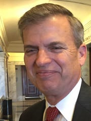 Hal Heiner, who ran unsuccessfully against Matt Bevin in the Republican gubernatorial primary, was in the Kentucky Capitol on Thursday, two days after Bevin's win in the general election.