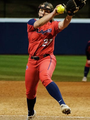 Former South Effingham High School softball standout Kastin Belogorska had a memorable freshman season at Liberty University, compiling a 1-2 record with a team-leading 2.17 ERA in 9.2 innings.