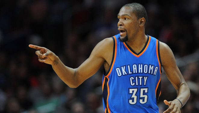 Oklahoma City Thunder forward Kevin Durant (35) has been grounded most of his career.