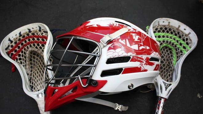 Tappan Zee lacrosse helmet.