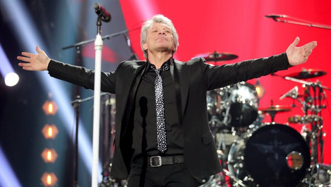 Jon Bon Jovi performs onstage March 11, 2018, during the 2018 iHeartRadio Music Awards in Inglewood, Calif.